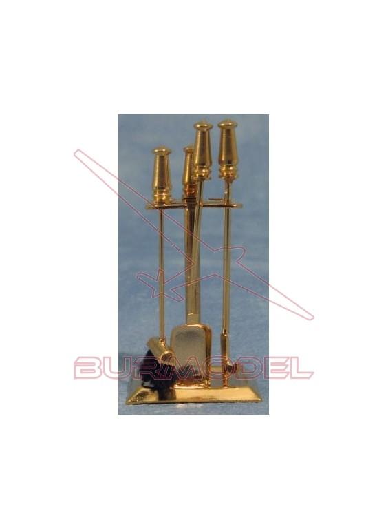 Accesorios chimenea bronce