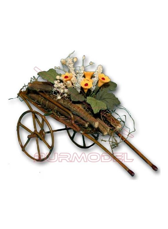 Carrito con Flores grande