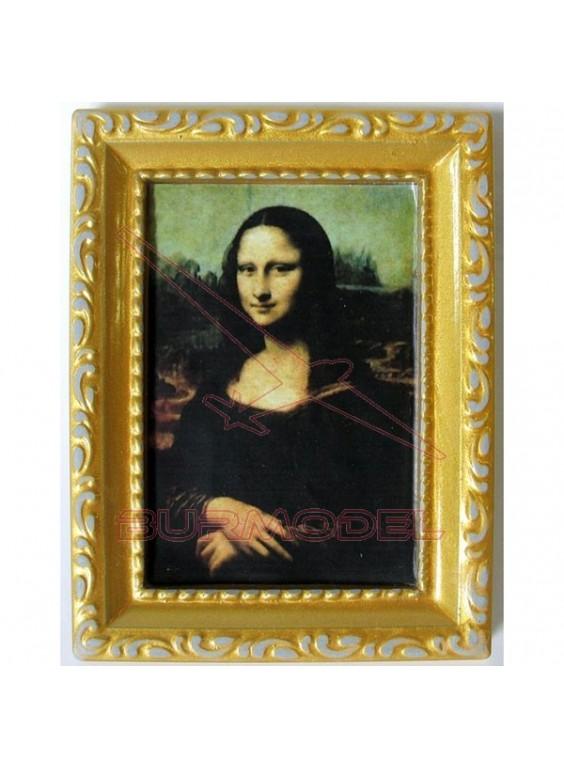 Cuadro Mona Lisa 6X8 cm.