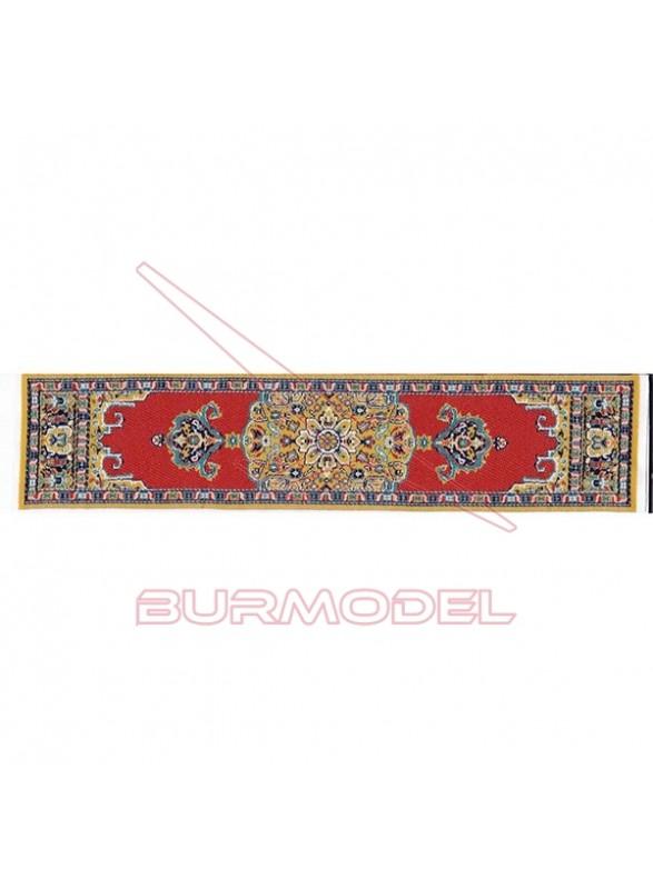 Alfombra pasillo color rojo 4 x 22,5 cm