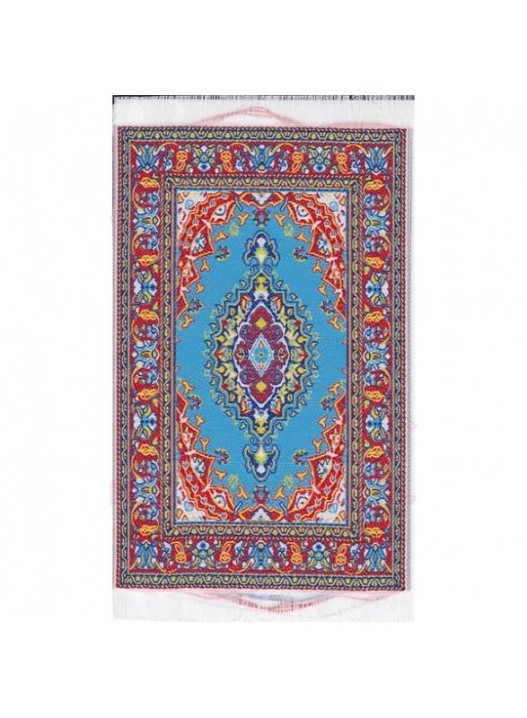 Alfombra color rojo y azul 10 x 17,5 cm