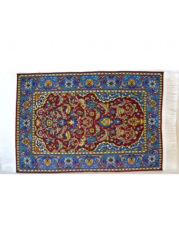 Alfombra color rojo y azul 10 x 14 cm