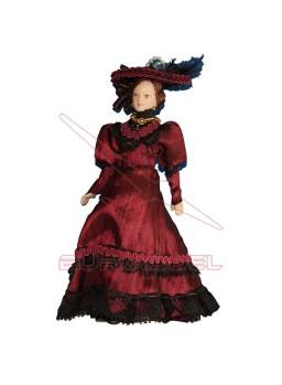 Señora Victoriana rojo