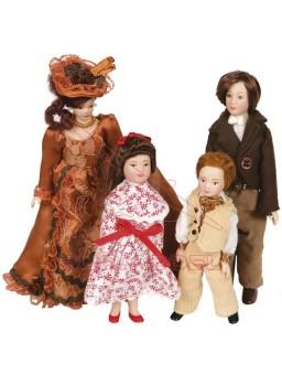 Familia 4 Personajes porcelana