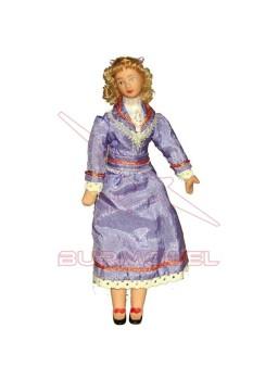 Señora para casitas de muñecas