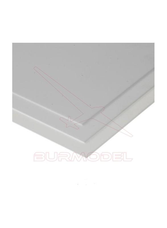 Hojas de estireno transp. liso 15x30 0.4 mm