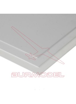 Hojas de estireno blanco liso 15x30 0.25 mm