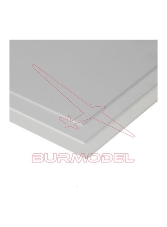 Hojas de estireno blanco liso 15x30 0.75 mm