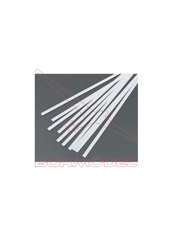 Tiras de estireno 0.25 x 0.75 x 350 mm (10 pzas.)