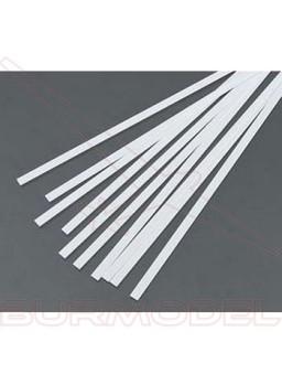 Tiras de estireno 0.50 x 4.00 x 350 mm (10 pzas.)