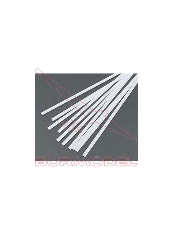 Tiras de estireno 0.75 x 2.50 x 350 mm (10 pzas.)