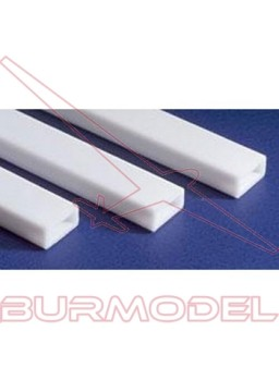 Tubo rectangular 6.3 x 9.5 x 350 mm (2 piezas)