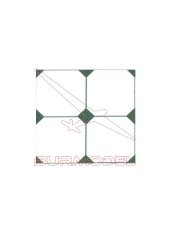 DM Suelo rombo verde 24x12