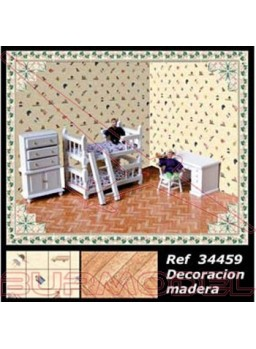 Decoración completa modelo madera
