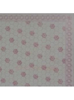 Papel casitas. Suelo color rosa
