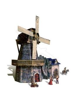 Maqueta papel molino de viento