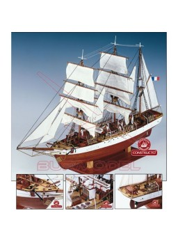 Barco de madera Le Pourquoi-Pas. Escala 1:80
