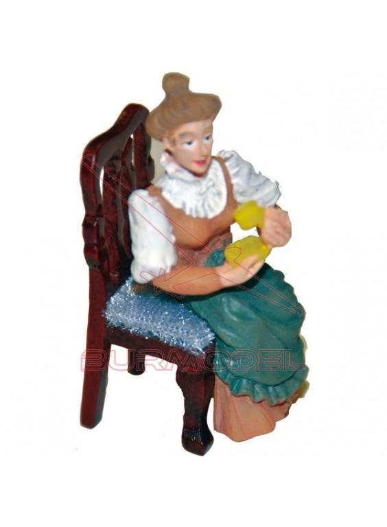 Señora en resina