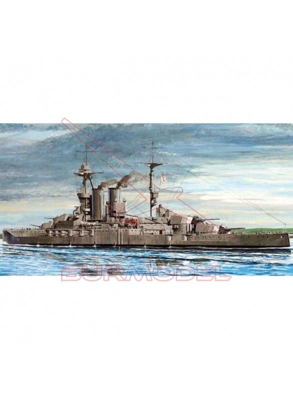 Maqueta barco HMS Warspite 1915