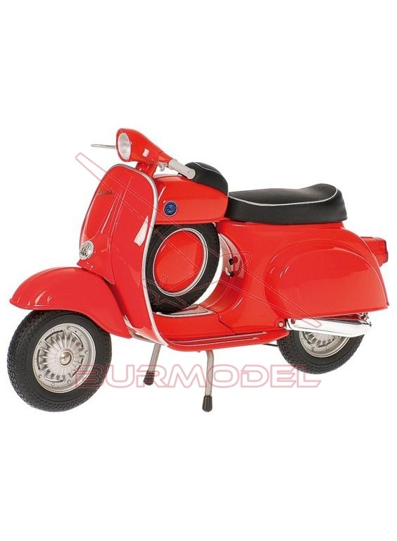 Moto Vespa SS 90'70, color rojo 1/12. Metal.