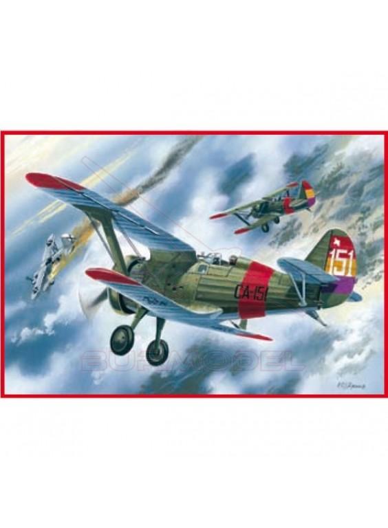 Maqueta avión I-15 Fuerza aérea española 1:72