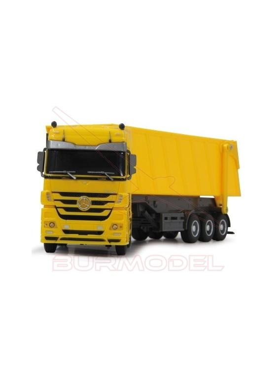 Camión rc amarillo con sonido.