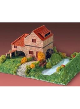 Maqueta de ladrillos Casa Rural con molino