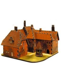 Maqueta papel Casa roja de William Morris