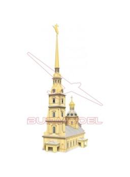 Maqueta Iglesia San Pedro y San Pablo en papel