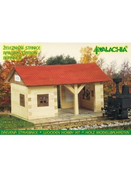 Kit de montaje en madera. Estación de ferrocarril
