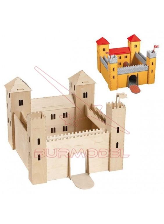 Castillo para montar en madera troquelada