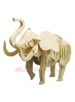 Elefante de madera para montar
