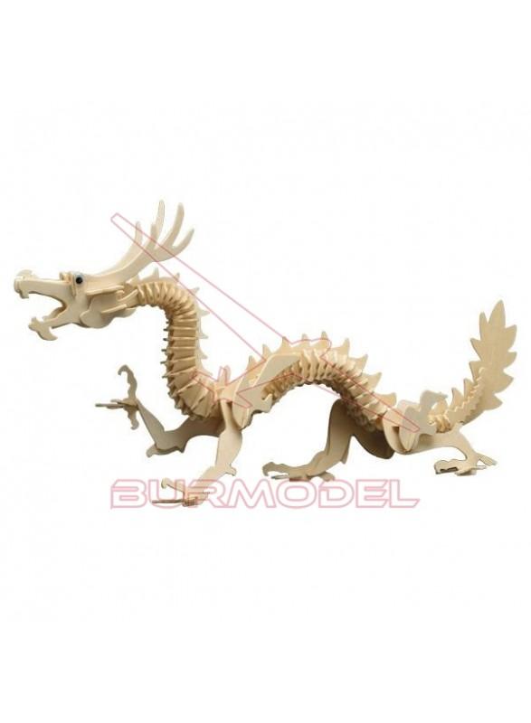 Dragón maqueta de madera