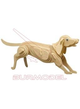 Maqueta en madera para montar perro.