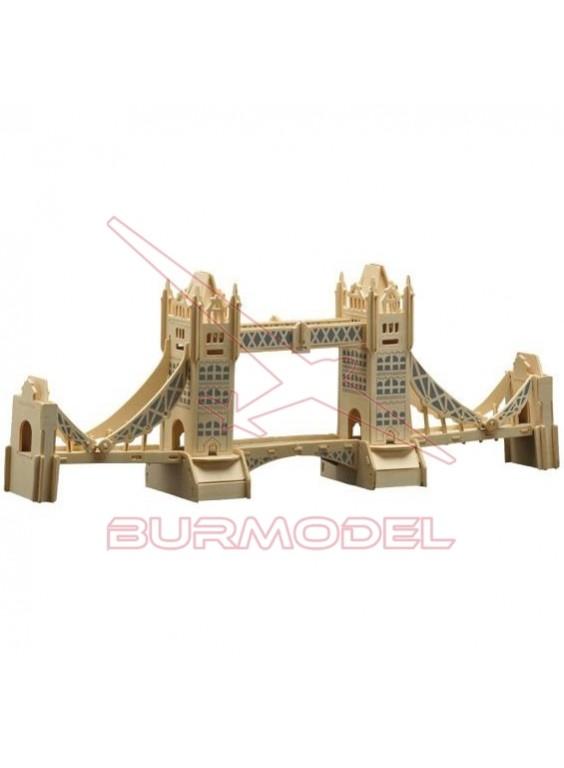 Puente de Londres maqueta de madera