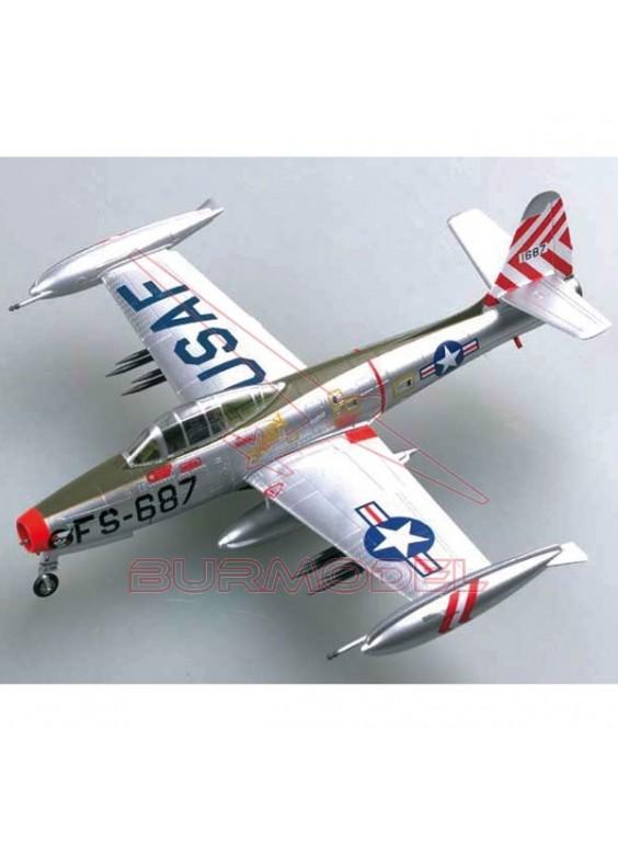 Maqueta montada avión F-84E Thunderjet 1:72