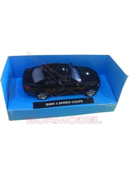 Réplica BMW 3 Series Coupe. Color negro. 1/43