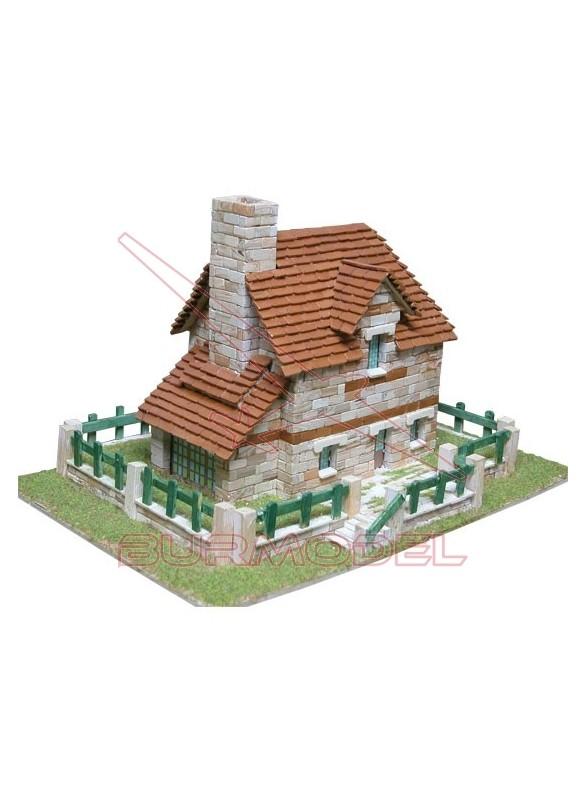Chalet moderno para construir con ladrillos.