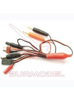 Kit cable cargador universal Futaba/Bec/Tx/RX/Dean