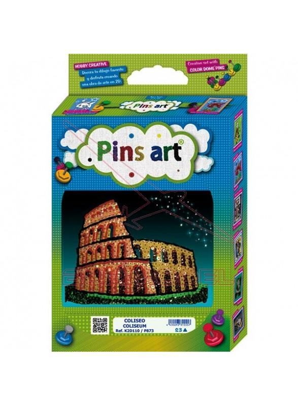 Construcción Coliseo Pins Art
