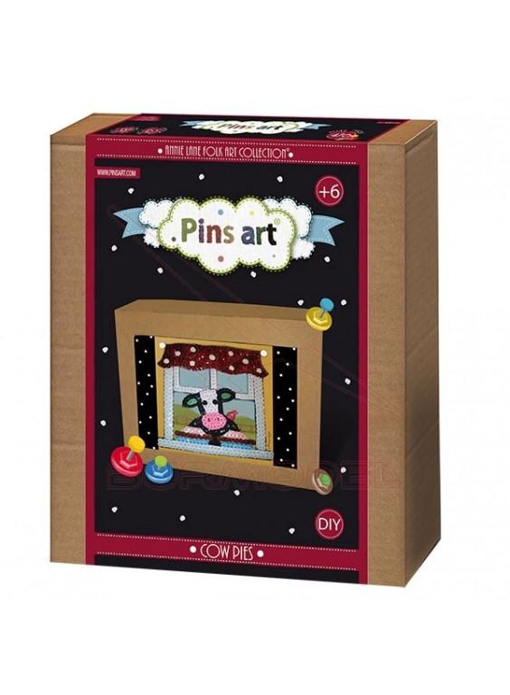 Kit creativo Pins Art. Vaca