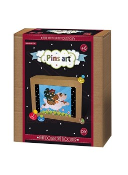 Kit creativo Pins Art. Perro con gallo.