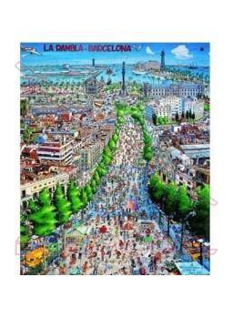 Puzzle Las Ramblas de Barcelona. 1000 piezas