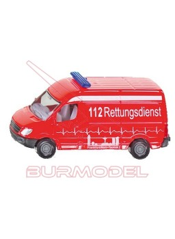 Ambulancia P10. Maqueta Siku