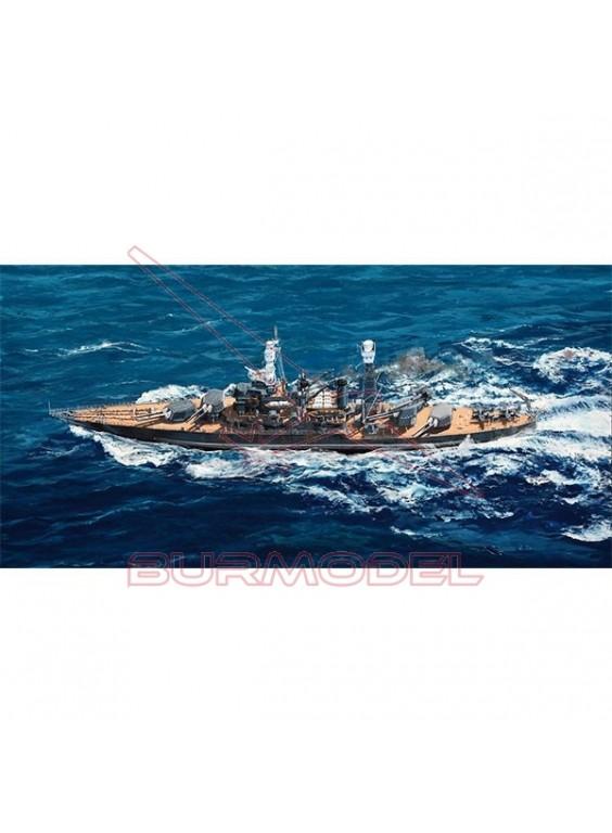 Maqueta USS West Virginia BB-48 1941. Escala 1/700