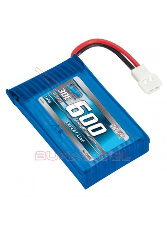 Batería 3,7V-600mAh LiPo 30C
