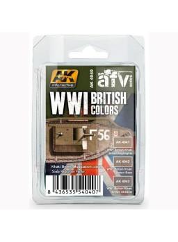 Set de colores británicos AK I Guerra Mundial