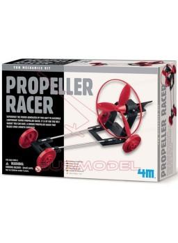 Coche de carreras aeropropulsado. Propeller Racer