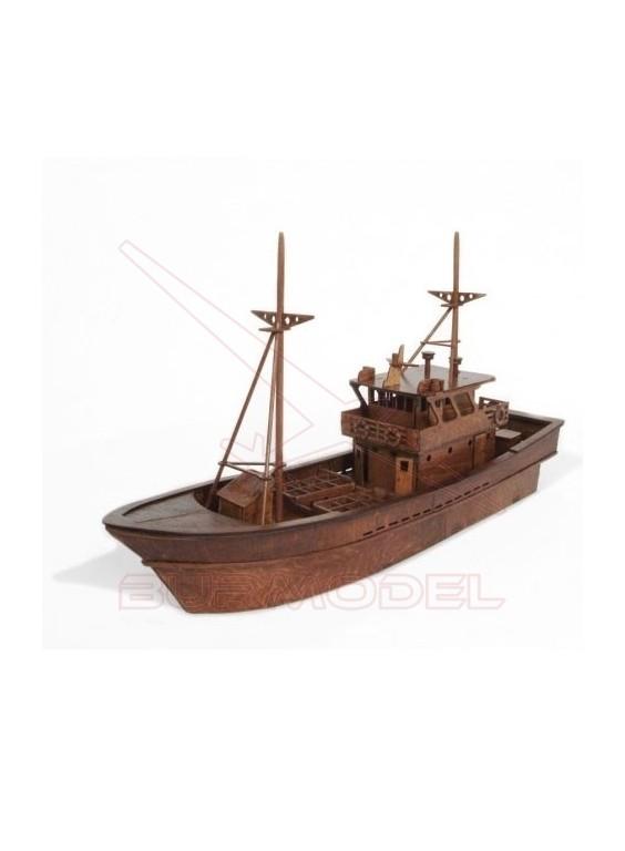 Construcción barco pesquero de madera