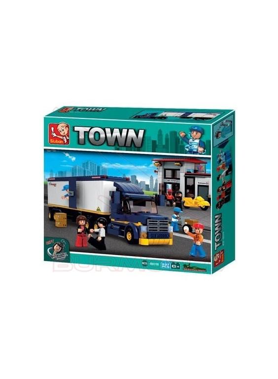 Maqueta camión compatible con LEGO